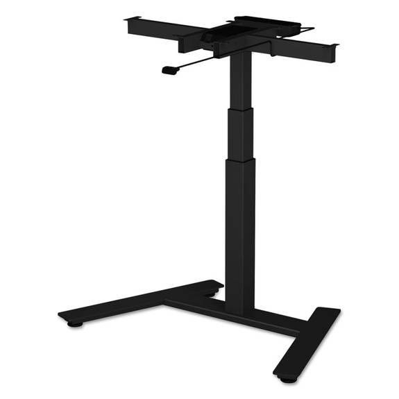 "Adaptivergo 1-column Electric Adjustable Table Base, 24 3/4"" To 43 1/4""h, Black"
