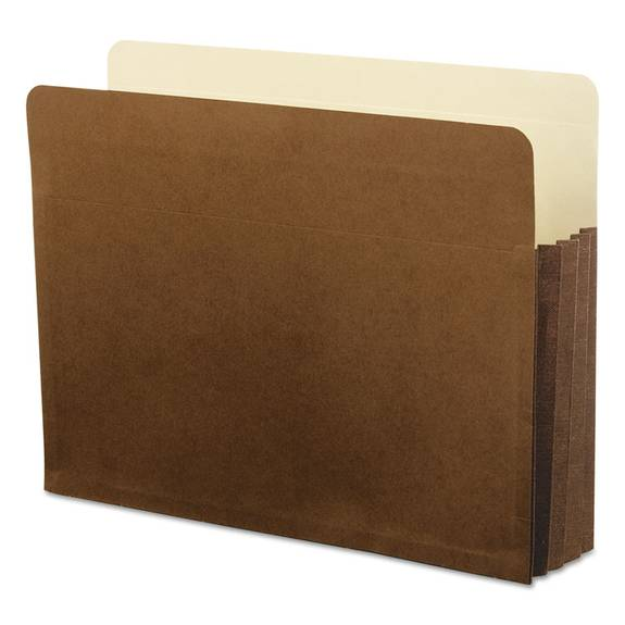 Watershed 3 1/2 Inch Expansion File Pockets, Straight Cut, Letter, Redrope
