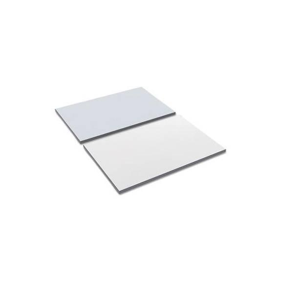 Reversible Laminate Table Top, Rectangular, 35 3/8w X 23 5/8d, White/gray