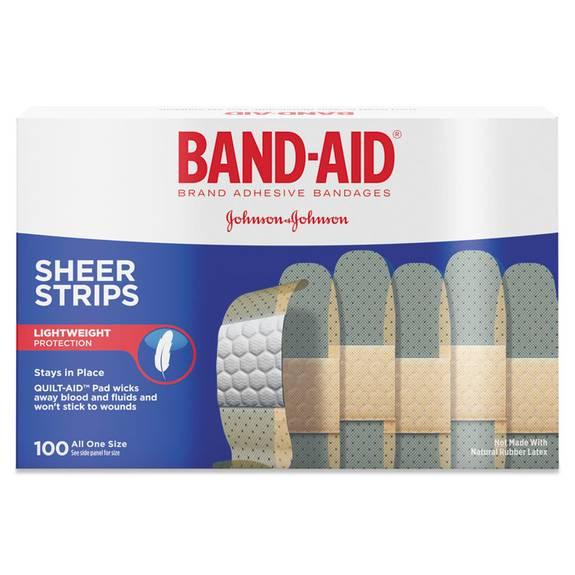 """Sheer Adhesive Bandages, 3/4"""" X 3"""", 100/box"""