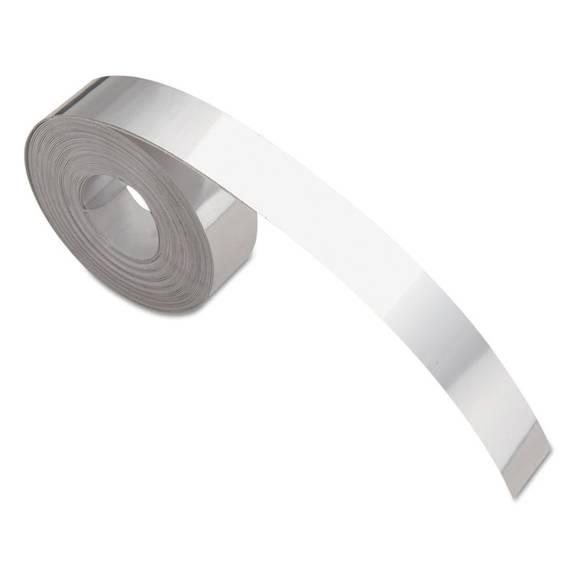 """Rhino Metal Label Self-Adhesive Tape, 1/2"""" X 12 Ft., Aluminum"""