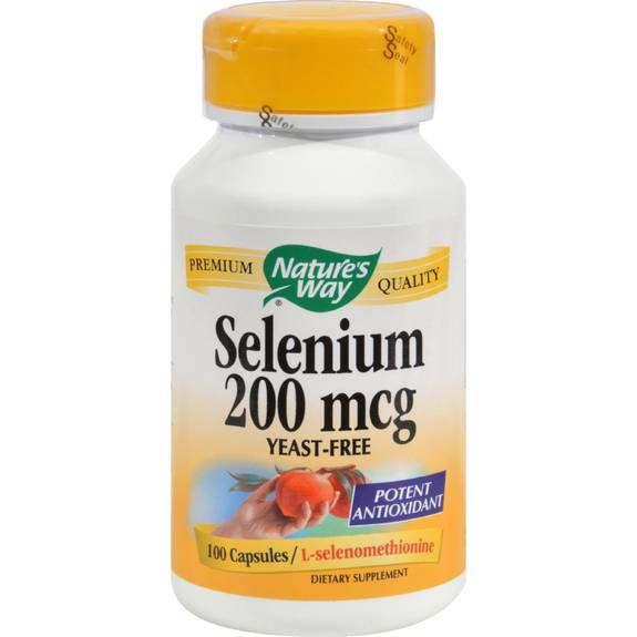 Nature's Way Selenium - 200 mcg - 100 Capsules
