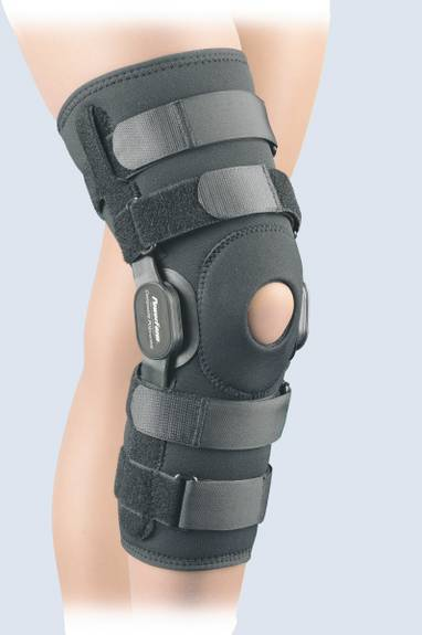 Powercentric Composite Polycentric Knee Brace Black Md