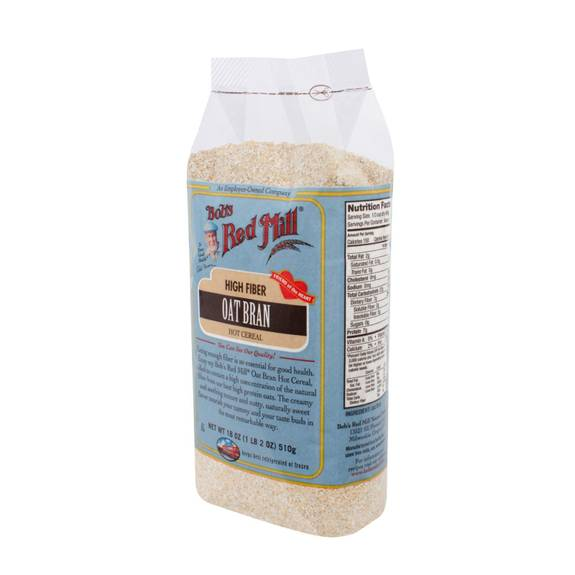 Bob's Red Mill Oat Bran Hot Cereal - 18 Oz - Case Of 4