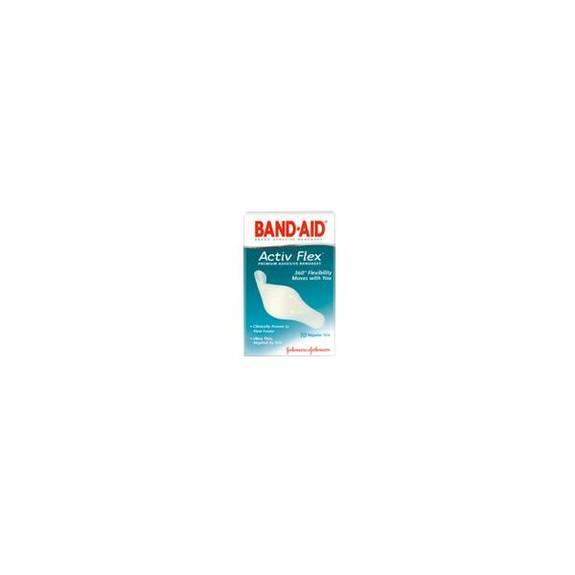 "J&J BAND-AID Adhesive Bandage Active Flex, 3/4"" x 3"" Part No. 004414 Qty  Per Box"