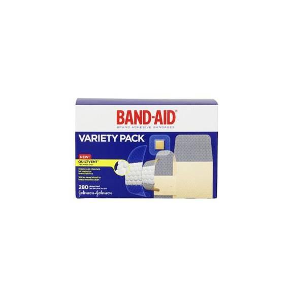 Band-Aid Brand Adhesive Bandages Variety Pack Part No. 004711 Qty  Per Box