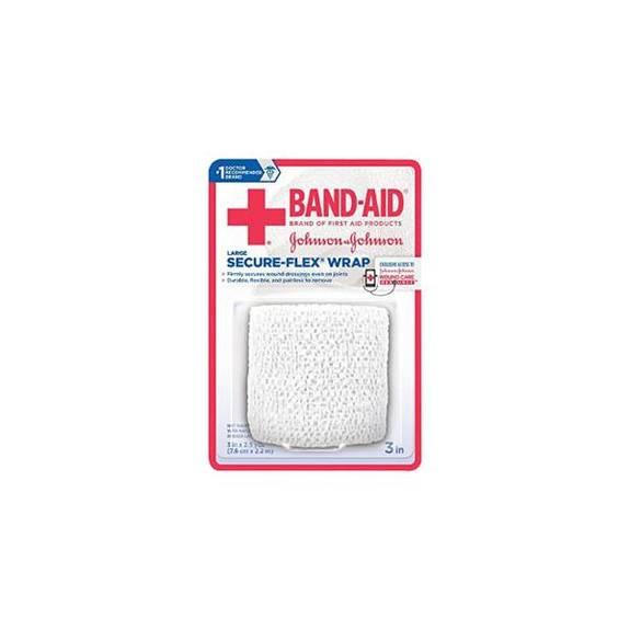 "J & J Band-Aid First Aid Securflex Wrap 3"" x 2.5 yds Part No. 111615100 Qty 1"