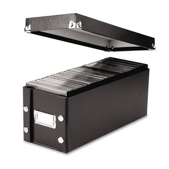 Media Storage Box, Holds 60 Slim/30 Standard Cases