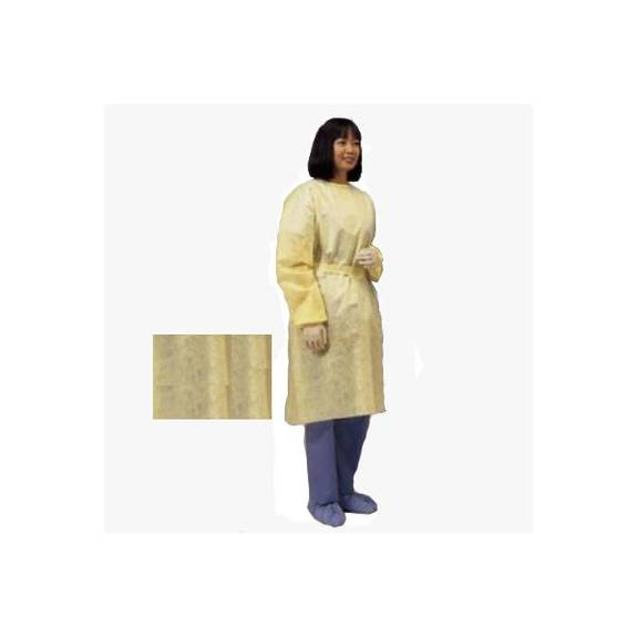 Lightweight Isolation Gown, Yellow, Universal Part No. 2100pg (10/package)
