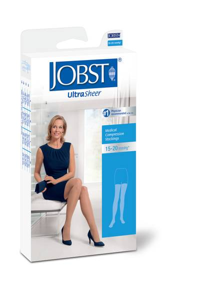 49f0c1115a3 JOBST Women s Ultrasheer Closed Toe Thigh Highs 15-20 mmHg Petite ...