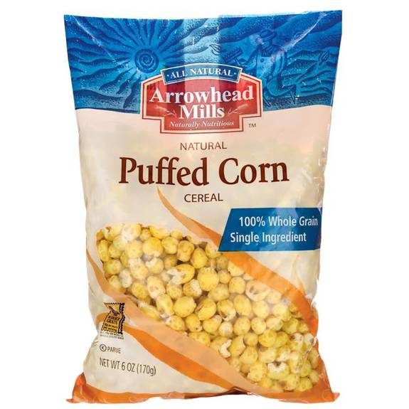 Arrowhead Mills All Natural Puffed Corn Cereal - Case of 12 - 6 oz.