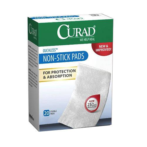 """Curad Non-Stick Adhesive Pad, 2"""" x 3"""" Part No. CUR47147RB Qty  Per Box"""