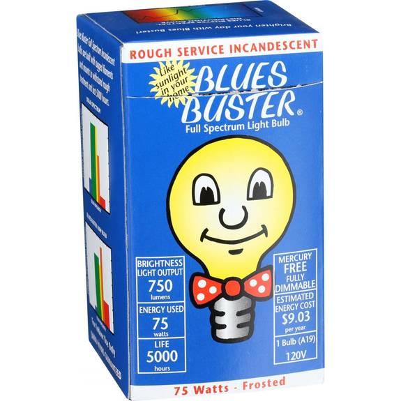 Blues Buster Light Bulb - Full Spectrum - Frosted - 75 Watt Bulb - 1 Count
