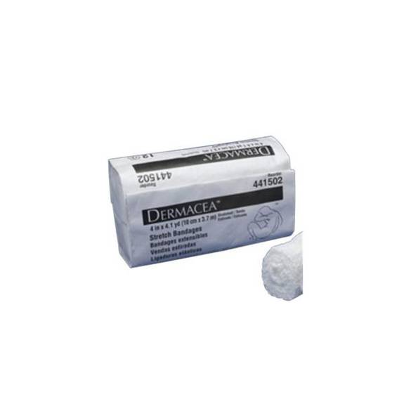 """Dermacea Sterile Stretch Bandage 6"""" x 4 yds. (Stretched) 75"""" (Relaxed) Part No. 441507 Qty  Per Package"""