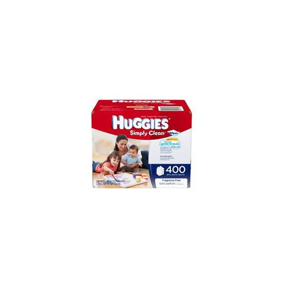 HUGGIES Simply Clean Fragrance Free Baby Wipes Refill Part No. 43217 Qty  Per Package