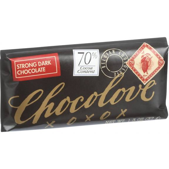 Chocolove Xoxox - Premium Chocolate Bar - Dark Chocolate - Strong - Mini - 1.3 Oz Bars - Case Of 12