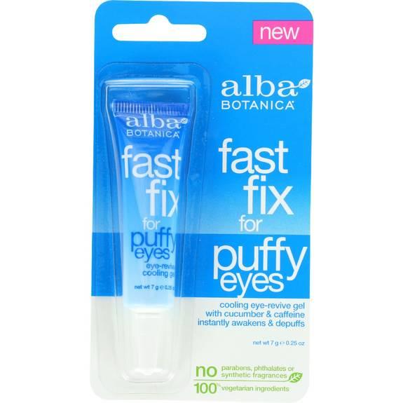 Alba Botanica Fast Fix For Puffy Eyes - .25 oz - Case of 6