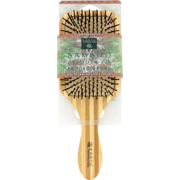 Earth Therapeutics Large Bamboo Lacquer Pin Paddle Brush - 1 Brush