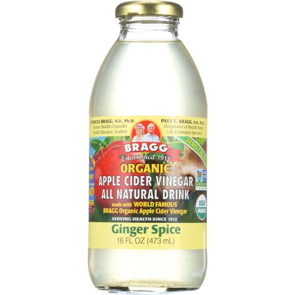 Bragg - Apple Cider Vinegar Drink - Organic - Ginger Spice - 16 Oz - Case Of 12