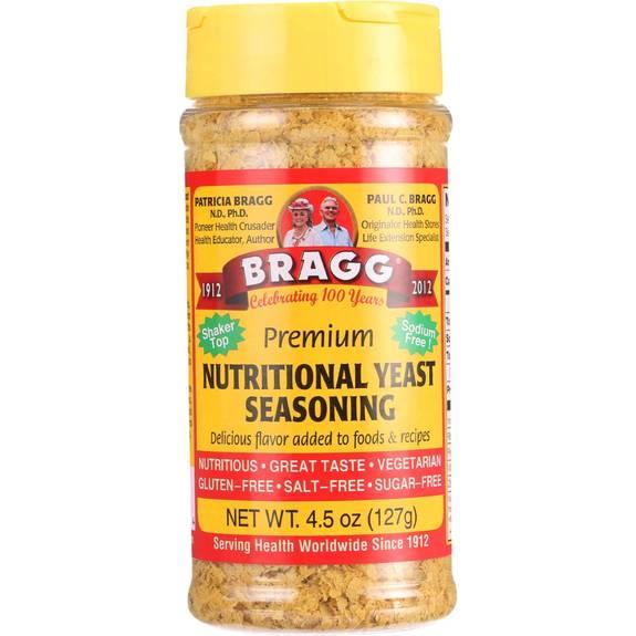 Bragg Seasoning, Nutritional Yeast Premium  - Case of 12 - 4.5 OZ