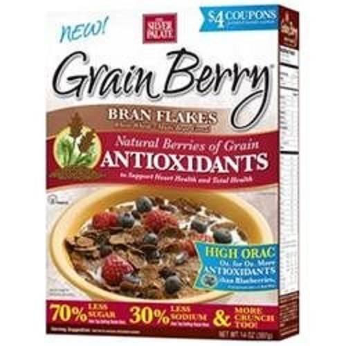 Grain Berry Antioxidants Whole Grain Cereal - Bran Flakes - Case of 6 - 12 oz.