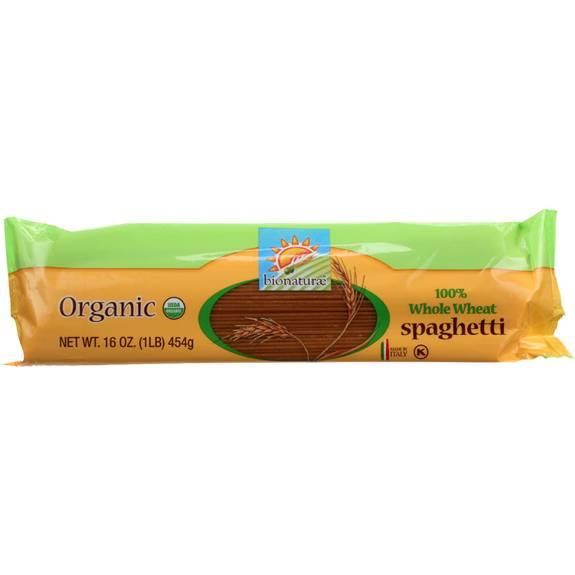 Bionaturae Pasta - Organic - 100 Percent Whole Wheat - Spaghetti - 16 Oz - Case Of 12