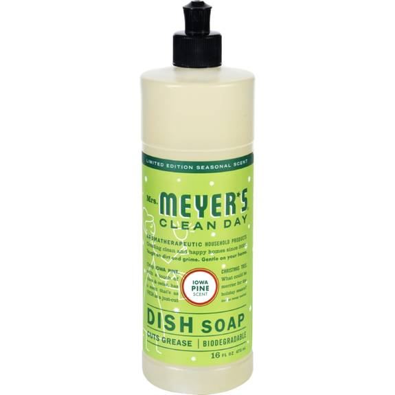 Mrs. Meyer's Liquid Dish Soap - Iowa Pine - Case of 6 - 16 oz