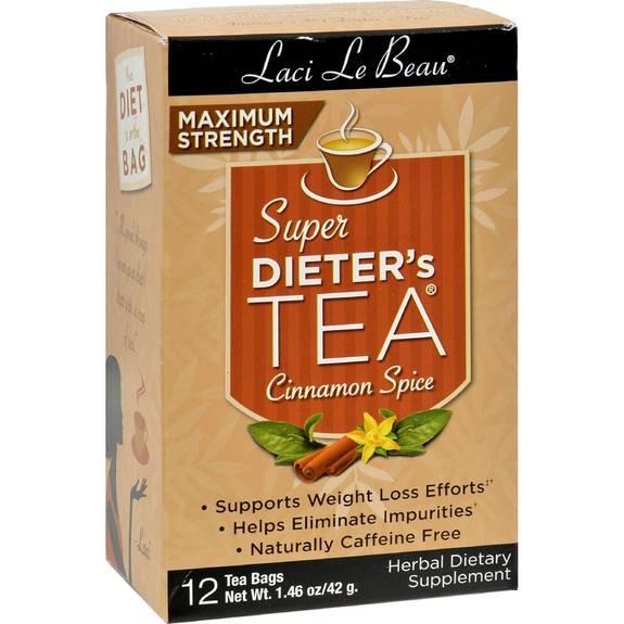 Laci Le Beau Maximum Strength Super Dieter's Tea Cinnamon Spice - 12 Tea Bags