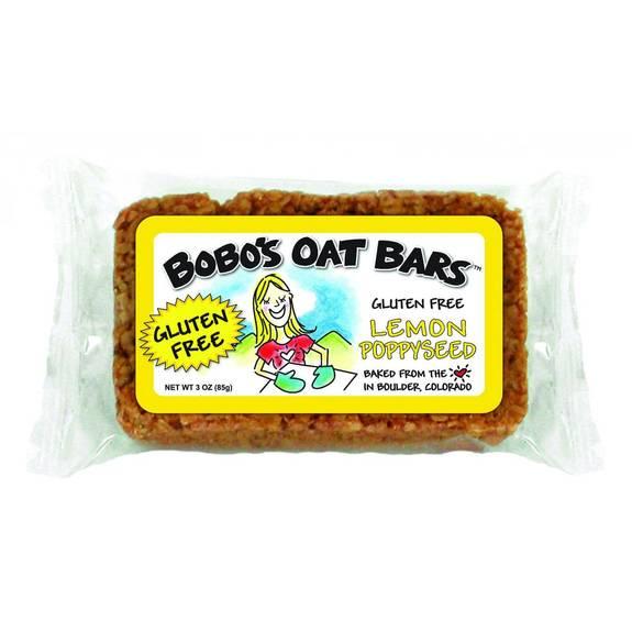 Bobo's Oat Bars - All Natural - Gluten Free - Lemon Poppyseed - 3 oz Bars - Case of 12