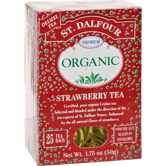 St Dalfour Organic Tea Strawberry - 25 Tea Bags