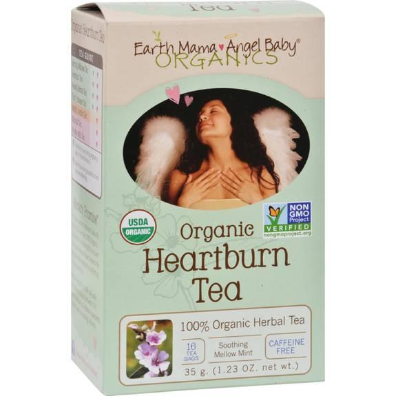Earth Mama Angel Baby Organic Heartburn Tea - 16 Tea Bags