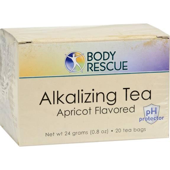 Body Rescue Alkalizing Tea - Apricot - 20 Bags