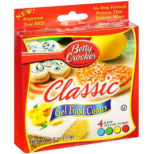 Betty Crocker Gel Food Colors - Classic - Case Of 12 - 2.72 Oz ...