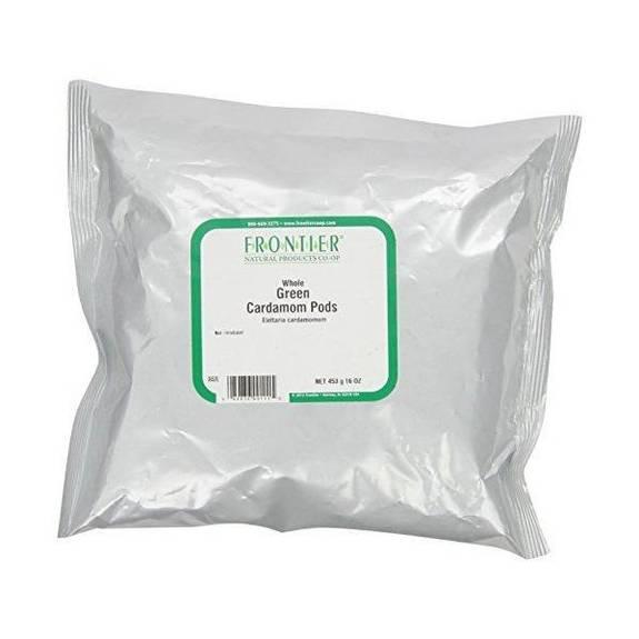Frontier Herb Cardamom Pods - Whole - Green - Exta Fancy Grade - Bulk - 1 lb