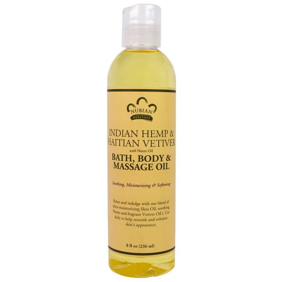 Nubian Heritage Bath Oil - Indisk Hamp - 8 Fl Oz-1471