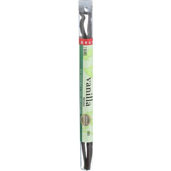 Frontier Herb Vanilla Bean - Organic - Whole - 2 Tubes