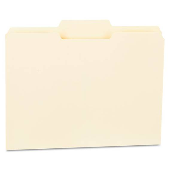 Top Tab Manila File Folders, 1/3-cut Tabs, Center Position, Letter Size, 11 Pt. Manila, 100/box