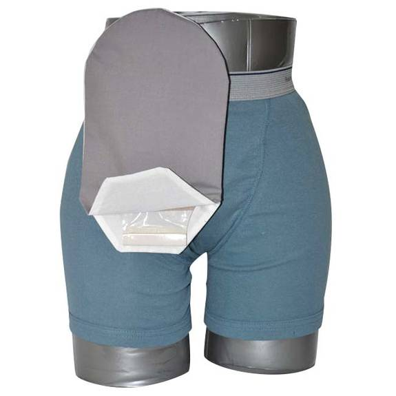 "Daily Wear Pouch Cover, Open End, Fits Flange Opening of 3/4"" to 2-1/4"", Overall Length 10"", Grey Part No. 58283-1 Qty 1"