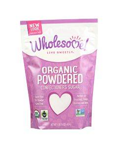 Wholesome Sweeteners Powdered Sugar - Organic And Natural - Case Of 6 Lbs