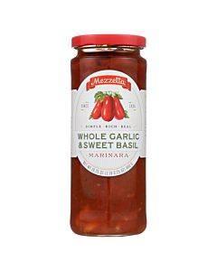 Mezzetta Marinara Whole Garlic And Sweet Basil - Case Of 6 - 16.25 Oz.