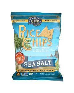 Lundberg Family Farms Rice Chips - Sea Salt - Case Of 24 - 1.5 Oz.