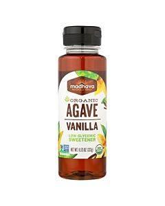 Madhava Honey Organic Agave Nectar - Vanilla - Case Of 6 - 11.75 Fl Oz.