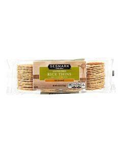 Sesmark Foods Rice Thins - Sesame - Case Of 12 - 4.25 Oz.
