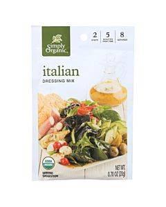 Simply Organic Italian Salad Dressing Mix - Case Of 12 - 0.7 Oz.