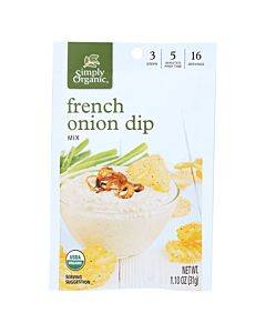 Simply Organic French Onion Dip Mix - Case Of 12 - 1.1 Oz.