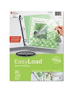 Side/top Loading Easyload Sheet Protectors, Letter, 25/pack