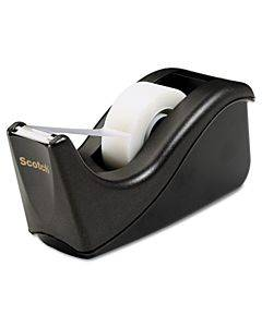 "Value Desktop Tape Dispenser, 1"" Core, Two-tone Black"