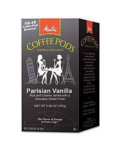 Coffee Pods, Parisian Vanilla, 18 Pods/box