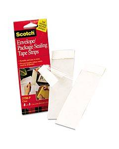 """Envelope/package Sealing Tape Strips, 2"""" X 6"""", Clear, 50/pack"""