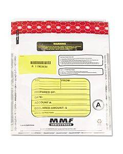 Tamper-evident Deposit/cash Bags, Plastic, 9 X 12, White, 100 Bags/box